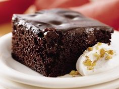 Chocolate Pudding Poke Cake. This great all-family ooey-gooey recipe can also be used for casual entertaining.