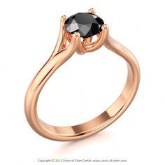 "Black Diamond Engagement Ring - ""Genesis"""