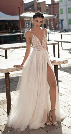Courtesy of Gali Karten Bridal Wedding Dresses; Wedding dress idea.