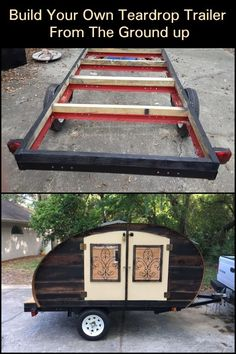 If you love the idea of your own camper trailer, but don't like the price tag, you could always build your own. Airstream Caravans, Camper Trailers, Rv Campers, Travel Trailers, Airstream Interior, Vintage Airstream, Teardrop Trailer, Teardrop Campers, Outdoor Camping
