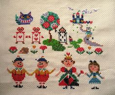 [Cross Stitch] Alice in Wonderland | Masquerade
