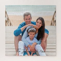 Shop Dated Keepsake Add Your Family Photo Jigsaw Puzzle created by NauticalBoutique. Outdoor Family Photos, Family Beach Pictures, Beach Photos, Family Pics, Senior Pictures, Sibling Photography, Family Portrait Photography, Family Portraits, Photography Ideas