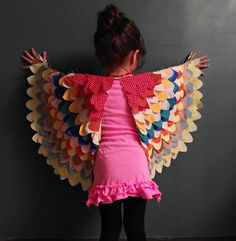 Need to make angel wings for next year's Christmas play? Imagine them white on white! Use up all your scraps or buy remnants at the local fabric store to keep them cheap!