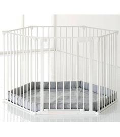 Babydan Babyden White grey base | Kiddicare