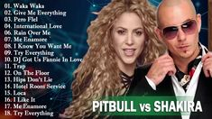 I Want You, Give It To Me, Give Me Everything, Waka Waka, Shakira, Video Clip, Greatest Hits, Knowing You, Pitbulls