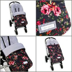 Universele hoes met afritsbare voetenzak voor de baby autostoel en kinderwagen.100% made with ♥**************************************** Unique cover with zipped-on footmuff for infant baby car seat and stroller. 100% made with ♥        *********************************************              For Maxi-cosi, Safety 1st, Mutsy, Stokke, Cybex, Bugaboo etc.  webshop: www.hagou-originals.com  ********************************************* stroller cover  dream-cover XL - Grey Flower