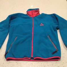 Vintage 90s Nike ACG Fleece Windbreaker Jacket Size Small Full Zip #Nike #FleeceJacket