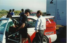 With Armin Schwarz ,European Ralli Champion in the test from Rallie El Corte Ingles, canary Island.