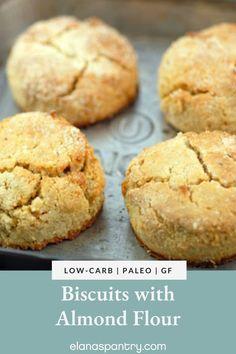 Paleo Diet, Paleo Bread, Low Carb Bread, Low Carb Keto, Breakfast Sausage Recipes, Breakfast Biscuits, Almond Flour Bread, Almond Flour Recipes, Best Paleo Recipes