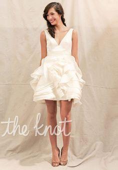 Short V-Neck wedding dress // Sass, Ivy & Aster