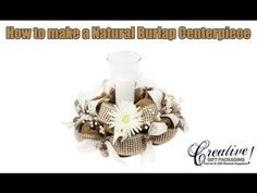 How to Make a Natural Paper Mesh Centerpiece - Video created by Creative Gift Packaging Inc - Visit www,cgpackaging.com for all your deco mesh supplies #Deco Mesh #Wedding Centerpiece #Natural Centerpiece
