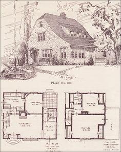 Shingled English Revival   House Plans   The Portland Telegram Plan Book    Oregon   No.