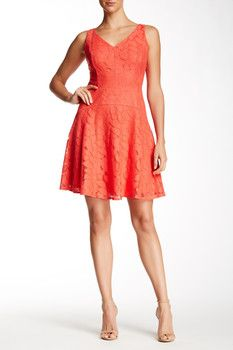 Maggy London Rose Lace Fit & Flare Dress