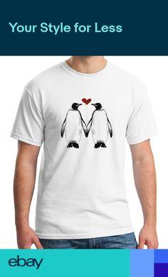 Vintage T-Shirt,King Penguins on Shore Fashion Personality Customization