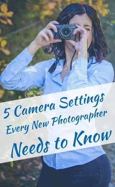 Camera Settings Every New Photographer Needs to Know These 5 cameras settings will level up your photography.These 5 cameras settings will level up your photography. Dslr Photography Tips, Photography Tips For Beginners, Photography Lessons, Photoshop Photography, Photography Equipment, Digital Photography, Underwater Photography, Photography Business, Photography Tutorials