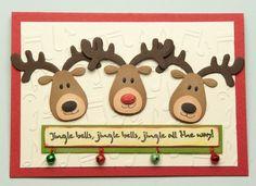 xmas cards using marianne designs elines reindeer - Google Search