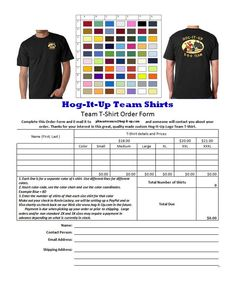 T shirt order form template excel 1uive8 t shirt ideas for Custom t shirt order form template