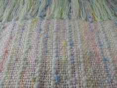 Baby blanket.   Rigid heddle Loom