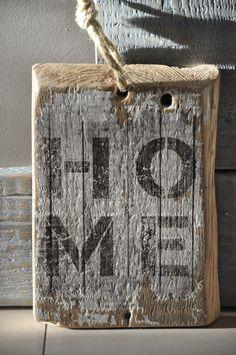 Drewniana tabliczka - Home - OLDTREE - Ozdoby na ścianę