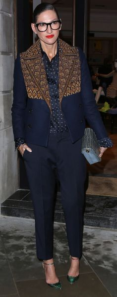 Kind of obsessed with Jenna Lyons's major jacket - see more outfit ideas from the master here!