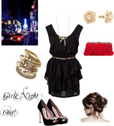 Girls Night!, created by chelsean23 on Polyvore