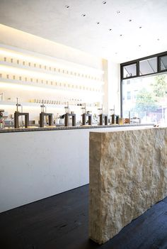 Samovar Tea Bar in the Mission, San Francisco // via Spotted SF Retail Interior, Cafe Interior, Restaurant Design, Restaurant Bar, Tea Lounge, Bar A Vin, Restaurants, Inspiration Design, Lokal