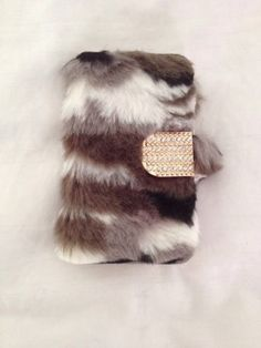Iphone 4 4s Flip Magnet Case Cover Skin Faux Fur Wallet US SELLER