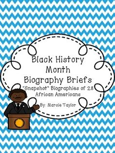 28 Biography cards that highlight the accomplishments of African Americans in the areas of civil rights, music, politics, literature, science, entertainment and more!