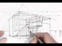 Dessiner en perspective : les points de distance - YouTube