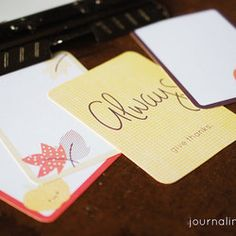 Printable: Fall Cards For Project Life