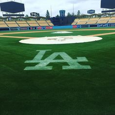 THINK BLUE: What a beautiful day to tour Dodger Stadium! Can't wait to catch a bunch of games here this summer! #dodgerstadium #stadiumtour #ladodgers #baseball by amandabrooke32