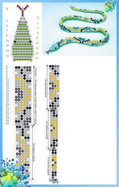 Snake Bead weaving scheme