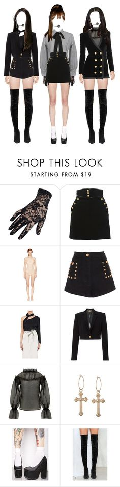 """Show Champion } performing Love Game"" by officialgirlcrush2 ❤ liked on Polyvore featuring Black, StyleNanda, Zuhair Murad, STELLA McCARTNEY, Alice McCall, Versace, Y.R.U. and Nasty Gal"