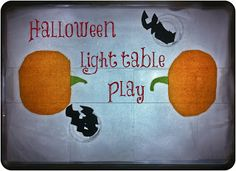 Winegums and Watermelons: Halloween light table play