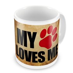 Coffee Mug My Dog/Cat Loves ME Vintage - Neonblond >> Stop everything and read more details here! : Cat mug