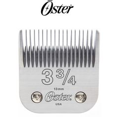 OSTER Clipper Blade Size 3 3/4 CL-76918206  Oster Professional blades are produced from the finest high-carbon steel and handcrafted to our rigorous standards, providing unparalleled precision and performance.