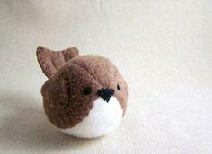 Brown Bird Stuffed Animal Handmade $13