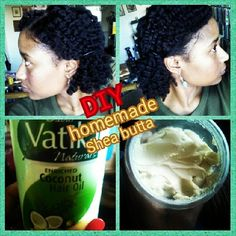 This recipe is what I currently use to seal my hair after a fresh wash and condition. Ingredients: ½ cup shea butter 1 tbsp vatika hair oil (or oil of your choice) 1 tbsp coconut oil 1 tbsp olive o...