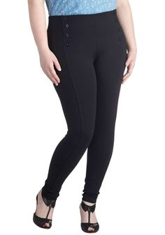 ModCloth | Sail into the Future Pants in Black - Plus Size