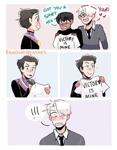 from the story Yuri on Ice photos! by Yuri-on-Ice-Queen (I taste like bleach) with 86 reads. Yuri On Ice Instagram, Yuri On Ice Comic, Yuri!!! On Ice, Ice Photo, Anime Ships, Ice Skating, Wattpad, Fan Art, Fandoms