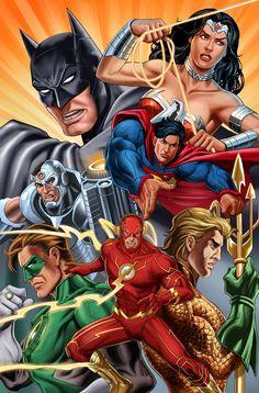 Justice League of American | Pencils by Noval N. Hernawan | Color by Slamet Mujiono