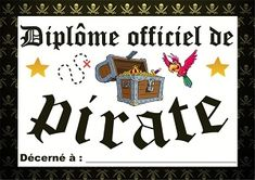 petit diplome pirate 7th Birthday, Birthday Parties, Pirate Parrot, Letters, Birdwatching, Activities, Peter Pan, Gabriel, Kids