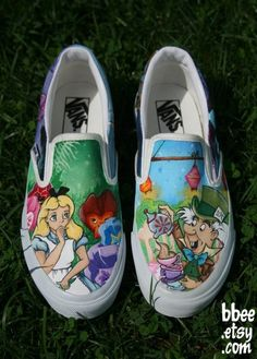 Hand painted shoes! Wow!
