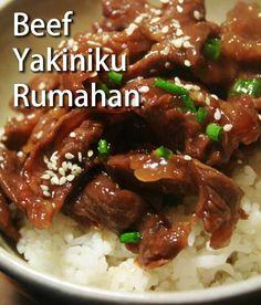 beef-yakiniku-resepkoki.co Asian Recipes, Beef Recipes, Chicken Recipes, Cooking Recipes, Healthy Recipes, Simple Recipes, Homemade Ramen, Western Food, Beef Dishes