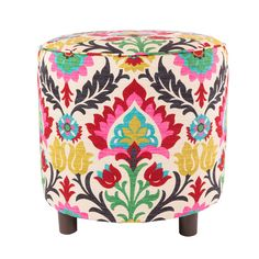 Another great find on Bohemian Floral Round Ottoman by Loni M. Ottoman Stool, Upholstered Storage Bench, Round Ottoman, Upholstered Ottoman, Ottoman Ideas, Leather Ottoman, Leather Pouf, Accent Furniture, Living Room Furniture