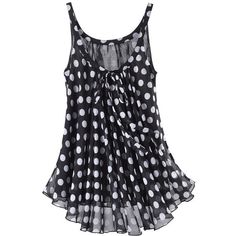Lucy Polka Dot Top - New Age & Spiritual Gifts at Pyramid Collection found on Polyvore