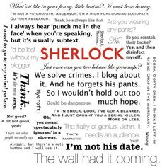 I need to write a 2000 word essay on literary features in Sherlock Holmes?