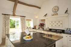 Unmistakable: Miss Hurley's Smallbone kitchen has the classic celebrity features such as a...