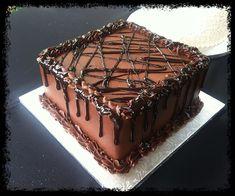 Chocolate Ganache Groom's Cake — Groom's Cakes #groomscakes