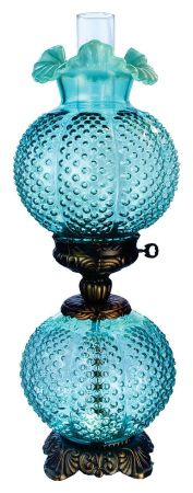Fenton Glass Lamp .. beautiful ... Love these types of lamps and this color